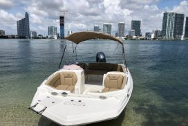 Boats on Biscayne Bay in Miami